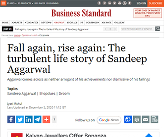 Fall again, rise again: The turbulent life story of Sandeep Aggarwal